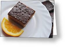 Chocolate And Orange Greeting Card