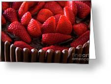 Chocolate And Strawberry Cake Greeting Card