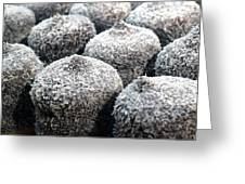 Chocolate Coconut Cakes Greeting Card