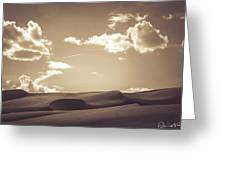 Chocolate Dunes Greeting Card
