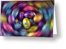 Chocolate Easter Eggs With Spin Effect Greeting Card