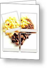 Chocolate Heart Mosaic Greeting Card
