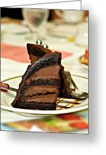 Chocolate Mousse Cake Greeting Card
