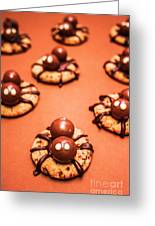 Chocolate Peanut Butter Spider Cookies Greeting Card