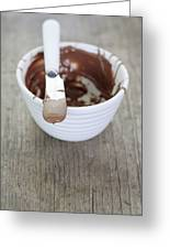 Chocolate Sauce In Bowl Greeting Card