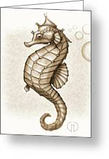 Chocolate Seahorse Greeting Card
