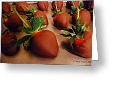 Chocolate Strawberries Greeting Card