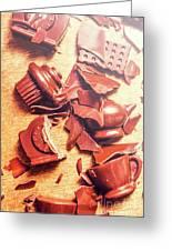Chocolate Tableware Destruction Greeting Card