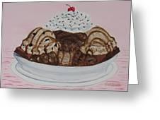 Chocolatey Brownie Sundae Greeting Card