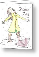 Choose Joy Woman Greeting Card