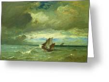 Choppy Sea 1870 Greeting Card