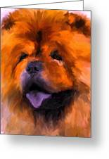 Chow Portrait Greeting Card