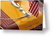 Chris Craft Custom Greeting Card by Neil Zimmerman