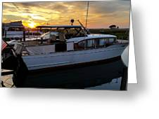 Chris Craft In The Evening  Greeting Card