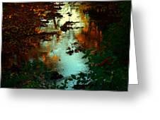 Chris' Creek Autumn Sunset Greeting Card
