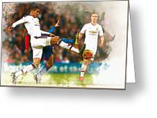 Chris Smalling  In Action  Greeting Card