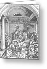 Christ Among The Doctors In The Temple 1503 Greeting Card