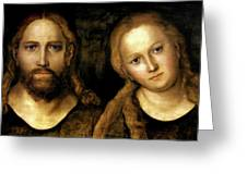 Christ And Mary Greeting Card