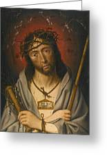 Christ As The Man Of Sorrows Greeting Card