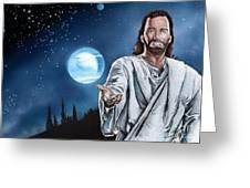 Christ At Night Greeting Card