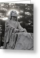Christ At Prayer Greeting Card by Robert  Suits Jr