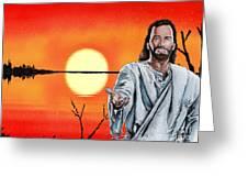 Christ At Sunrise Greeting Card