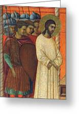 Christ Before Pilate Fragment 1311 Greeting Card