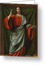 Christ Blessing Greeting Card
