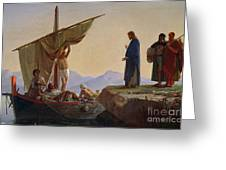 Christ Calling The Apostles James And John Greeting Card