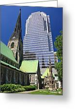 Christ Church Cathedral Montreal Greeting Card
