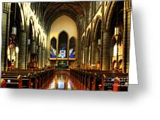 Christ Church Cathedral Victoria Canada Greeting Card