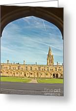Christ Church College Oxford Greeting Card