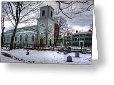 Christ Church In Cambridge Greeting Card by Wayne Marshall Chase