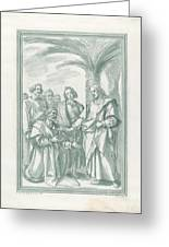 Christ Consigning The Keys To Saint Peter Greeting Card