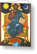 Christ Enthroned Icon  Greeting Card