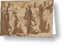 Christ Healing The Paralytic Greeting Card