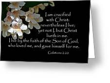 Christ Lives In Me Greeting Card