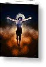 Christ Of The Cosmos Greeting Card
