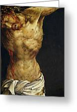 Christ On The Cross Greeting Card by Matthias Grunewald
