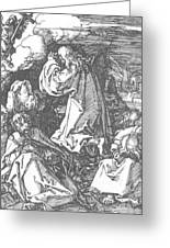 Christ On The Mount Of Olives 1511 Greeting Card