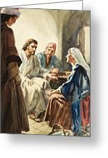 Christ Talking Greeting Card