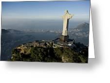 Christ The Redeemer Statue Greeting Card by Joel Sartore