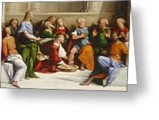 Christ Washing The Disciples' Feet Greeting Card