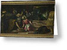 Christ Washing The Feet Of The Disciples Greeting Card
