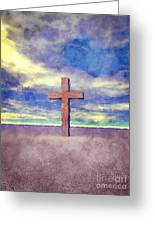 Christian Cross Landscape Greeting Card
