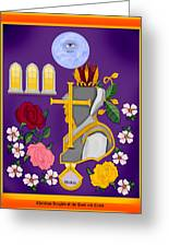 Christian Knights Of The Cross And Rose Greeting Card