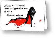 Christian Louboutin Shoes 4 Greeting Card