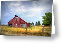 Christian School Road Barn Greeting Card