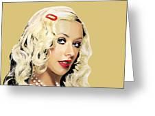 Christina Aguilera Greeting Card