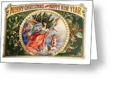 Christmas Angel Label Greeting Card